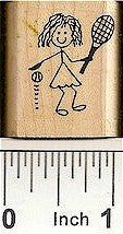 Tennis Gal Rubber Stamp 2233C