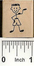 Beach Guy Rubber Stamp 2241C