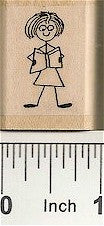 Gal Reader Rubber Stamp 2248D
