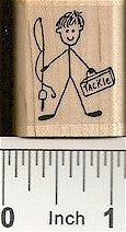 Fisherman Rubber Stamp 2250D