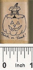 Pumpkin Trick or Treat Rubber Stamp 2262D