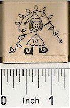 Elf with Lights Rubber Stamp 2271D