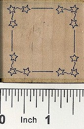 Square Star Border Rubber Stamp 2279E