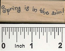 Spring in Air Rubber Stamp 2293C