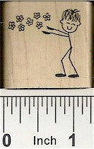 Spring Guy Rubber Stamp 2296D