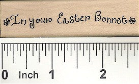 Easter Bonnet Rubber Stamp 2299D