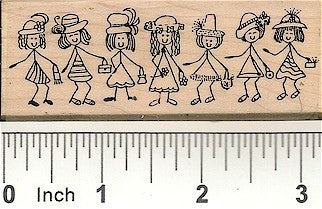 Ladies En Vogue Rubber Stamp 2301H