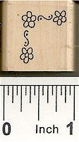Flower Corner Rubber Stamp 2302B