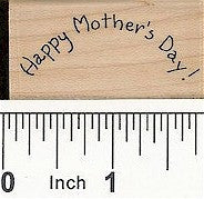 Curved Happy Mother's Day Rubber Stamp 2304C