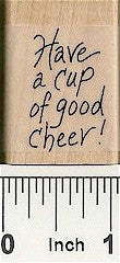 Cup of Cheer Rubber Stamp 2331C