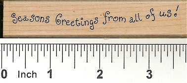 Seasons Greetings From All Rubber Stamp 2333D