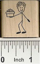 Guy/Gift Rubber Stamp 2336D