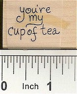Cup of Tea Rubber Stamp 2353C