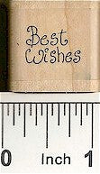 Tiny Best Wishes Rubber Stamp 2355A