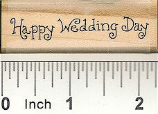 Happy Wedding Day Rubber Stamp 2367C