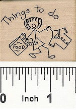 To Do Gal Rubber Stamp 2381E