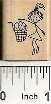 Basketball Girl Rubber Stamp 2394D