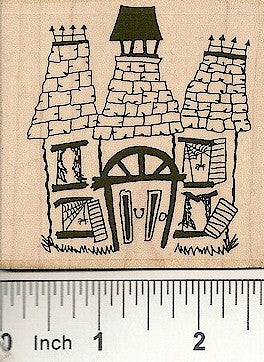 Haunted House Rubber Stamp 2403H