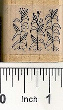 Cornstalks Rubber Stamp 2408D