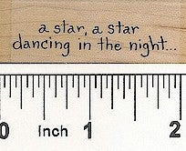 A Star A Star Rubber Stamp 2411C