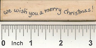 Wish You A Merry Rubber Stamp 2418D