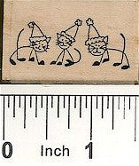 Santa Cats Rubber Stamp 2423D
