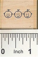 Baby Border Rubber Stamp 2439C
