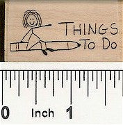 To Do Pencil Rubber Stamp 2442D