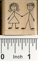Loving Couple Rubber Stamp 2458D