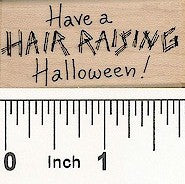 Hair Raising Rubber Stamp 2459D