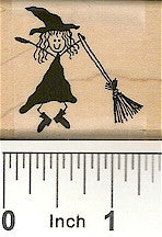 Witch Broom 1 Rubber Stamp 2461D