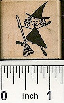 Witch Broom 2 Rubber Stamp 2462D