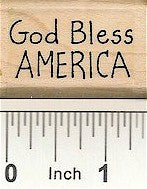 God Bless America Rubber Stamp 2464D