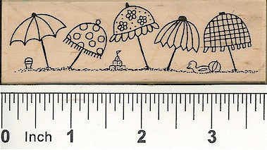Beach Umbrellas Rubber Stamp 2483H