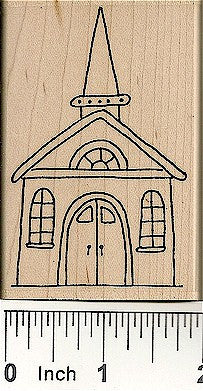 Church Rubber Stamp 2492J