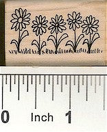 Flower Border 2 Rubber Stamp 2512D