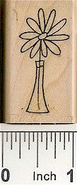 Daisy Vase 2 Rubber Stamp 2515D