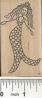 Kerry Mermaid Large Rubber Stamp 2530J