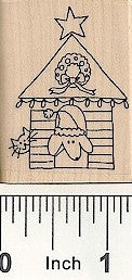 Dog/Cat/Doghouse Rubber Stamp 2545E