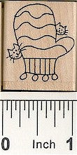 Mitten / 2 Cats Rubber Stamp 2552D