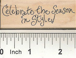 Celebrate in Style Rubber Stamp 2557D