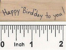 Happy Bird-day Rubber Stamp 2561D