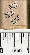 3 Birds Flying Right Rubber Stamp 2567C