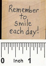 Smile Each Day Rubber Stamp 2575D