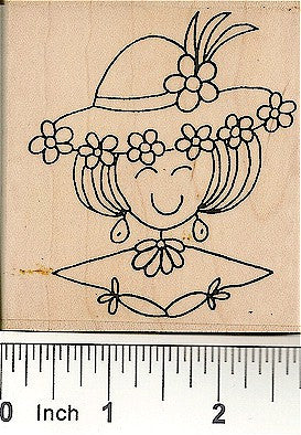 Portrait of Lea Rubber Stamp 4005H