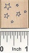 Small Outline Stars Rubber Stamp 7141A