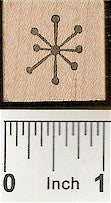 Sparkle 1 Rubber Stamp 7325A