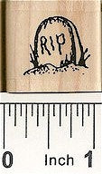 RIP Stone Rubber Stamp 7408A