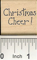 Christmas Cheer Rubber Stamp 7431B