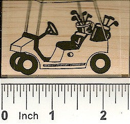 Golf Cart Rubber Stamp 7573F